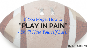 "If You Forget How to ""Play in Pain"" – You'll Hate Yourself Later"